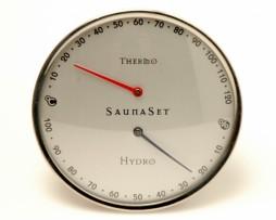 Szauna Pára és hőmérők